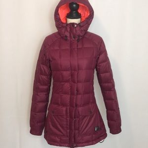 Nike quilted down jacket